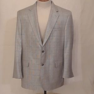 Jos. A. Bank Gray Glen Plaid Blazer - Size 44 R